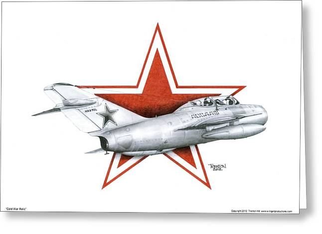 Jet Star Mixed Media Greeting Cards - Cold War Relic Greeting Card by Trenton Hill