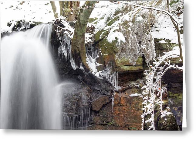 Cold Water Rush 2 Greeting Card by David Birchall