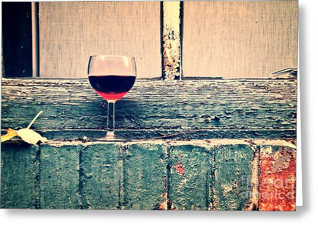 Wine Scene Greeting Cards - Cold wine Greeting Card by Delphimages Photo Creations