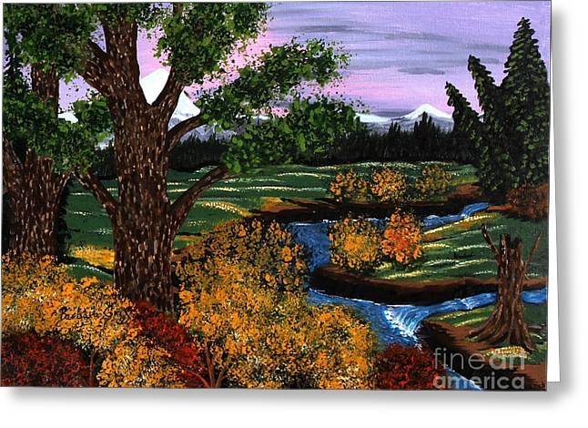 Babbling Paintings Greeting Cards - Coldest Mountain Brook Greeting Card by Barbara Griffin