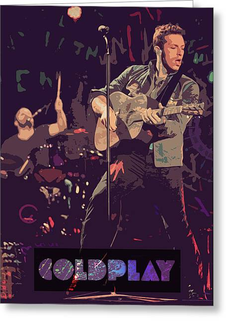 Coldplay Greeting Cards - COLDPLAY poster Greeting Card by Farhad Tamim