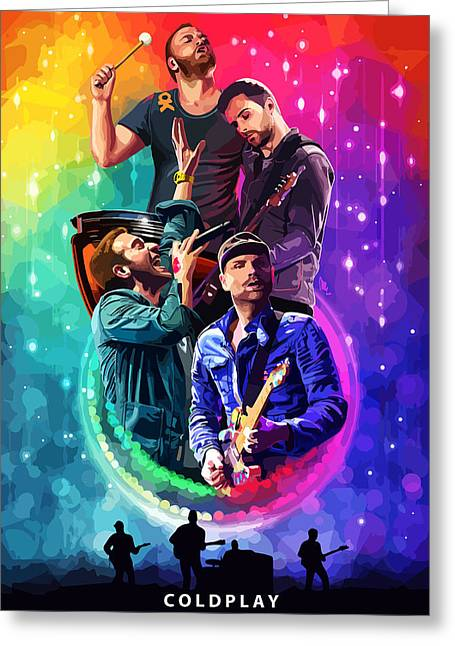 Coldplay Greeting Cards - Coldplay Mylo Xyloto Greeting Card by FHT Designs