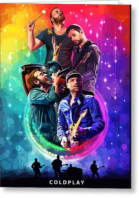 Coldplay Mylo Xyloto Greeting Card by FHT Designs