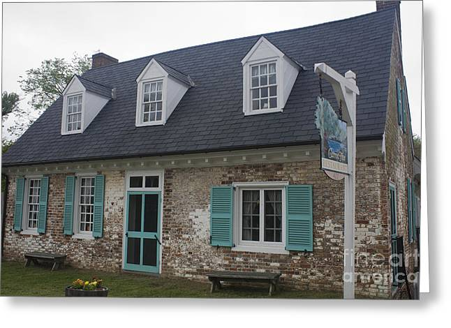 Cole Diggs House Yorktown Greeting Card by Teresa Mucha