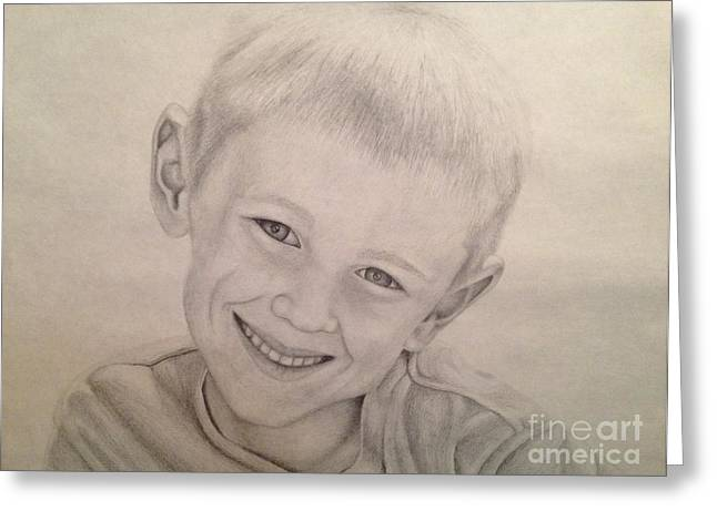 Cole Drawings Greeting Cards - Cole Greeting Card by Emily Young