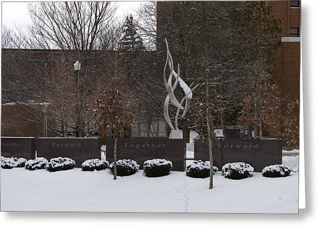 Northern Illinois University Greeting Cards - Cole Hall Memorial - NIU Greeting Card by Eric Mace