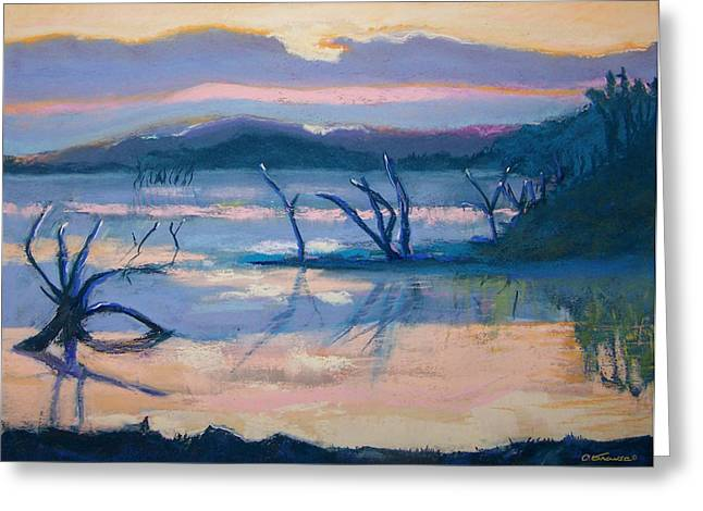 Coletta Lake Greeting Card by Charles Krause