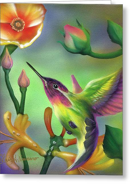 Colibri Greeting Card by Luis  Navarro