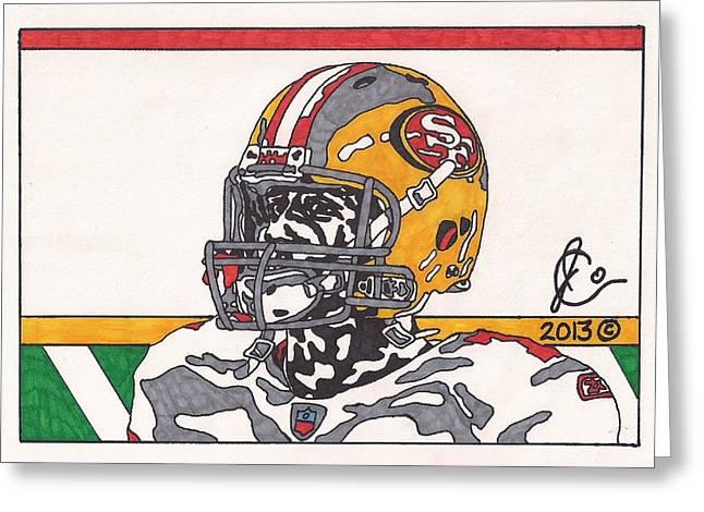 Colin Kaepernick Greeting Cards - Colin Kaepernick 4 Greeting Card by Jeremiah Colley