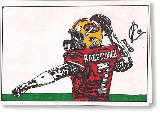 Colin Kaepernick Greeting Cards - Colin Kaepernick Greeting Card by Jeremiah Colley