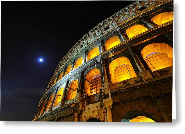 Coliseum Greeting Card by Aaron S Bedell