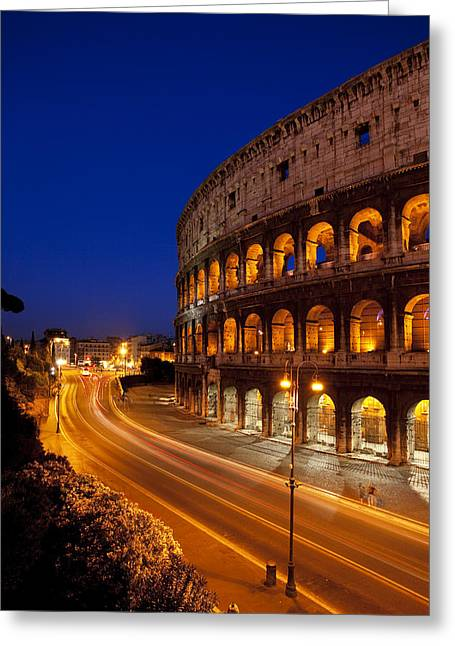Martyr Greeting Cards - Coliseum at Twilight Greeting Card by Brian Jannsen