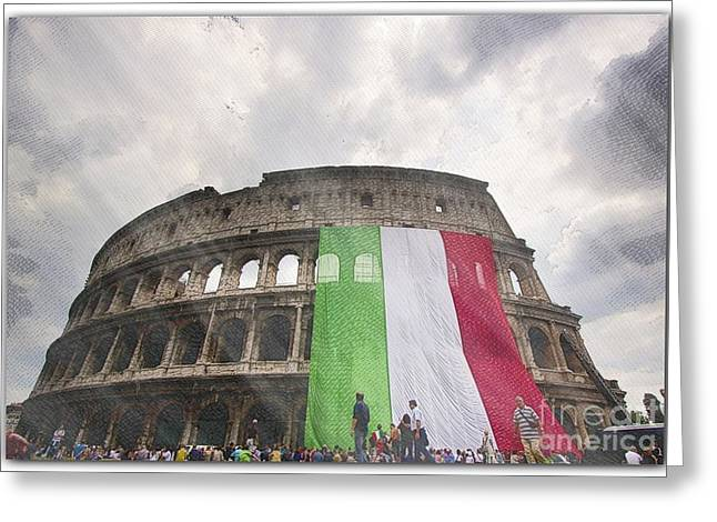 Geographical Locations Greeting Cards - Coliseum Greeting Card by Stefano Senise