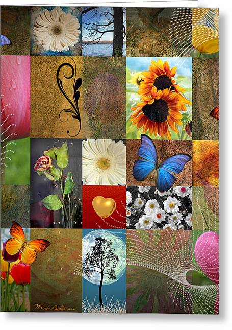 Thinking Of You Greeting Cards - Collage of happiness 2 Greeting Card by Mark Ashkenazi
