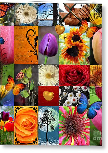 Thinking Of You Greeting Cards - Collage of happiness  Greeting Card by Mark Ashkenazi