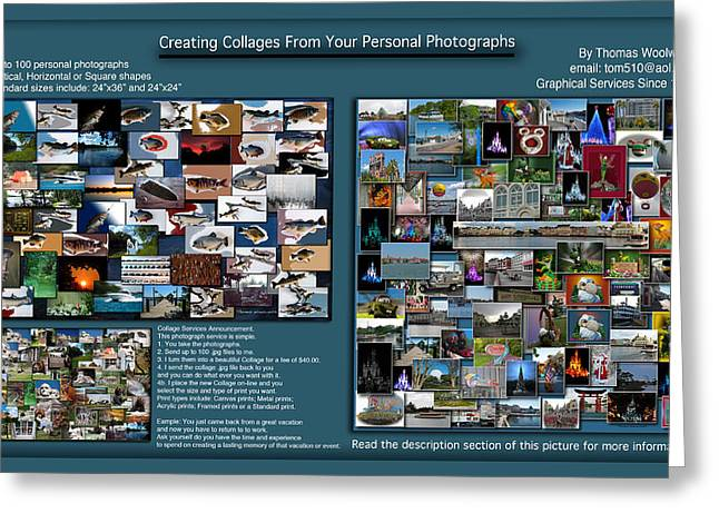 Coller Greeting Cards - Collage Photography Services Greeting Card by Thomas Woolworth