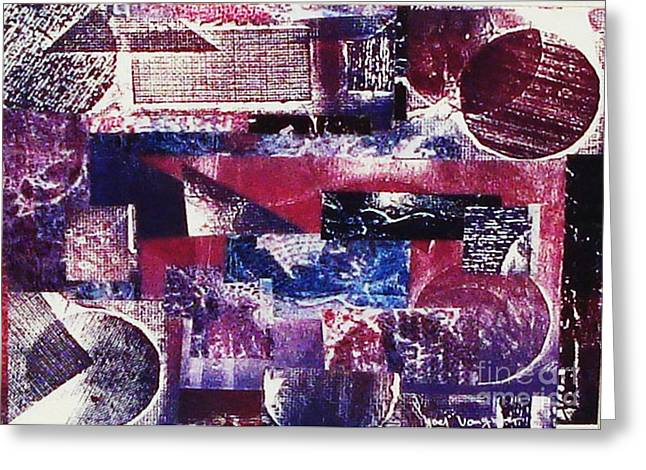 Printed Reliefs Greeting Cards - Collage Greeting Card by Yael VanGruber