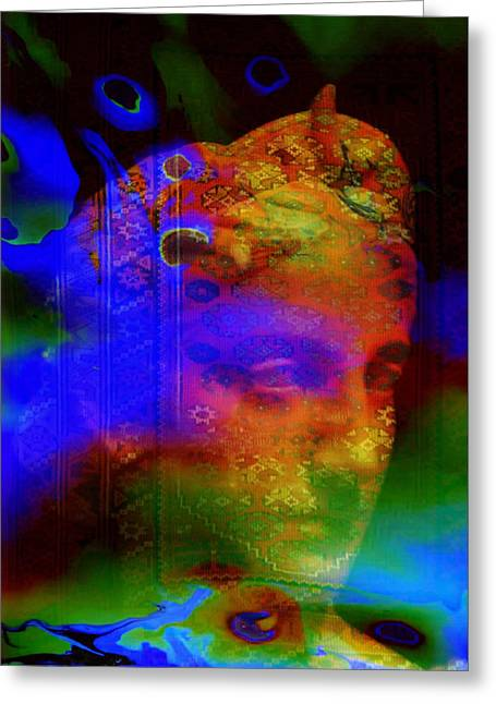 Oil Slick Greeting Cards - Rainbow woman Greeting Card by Joel Zimmerman