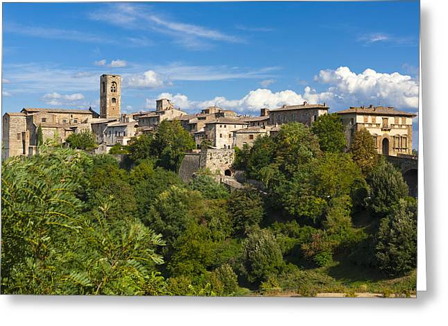 Tuscan Hills Greeting Cards - Colle di Val dElsa Greeting Card by Sebastian Wasek