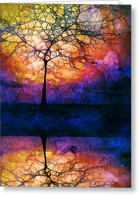 Fantasty Greeting Cards - Collecting Colours for Tomorrow Greeting Card by Tara Turner