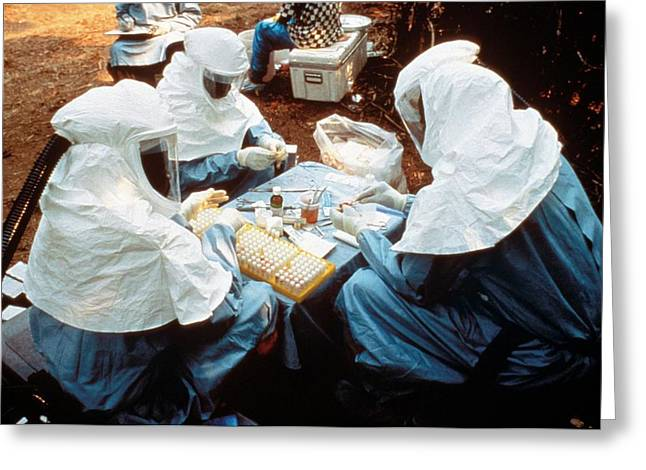 Collecting Ebola Samples Greeting Card by Cdc