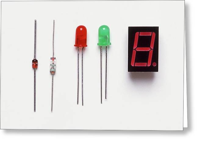 Collection Of Diodes Greeting Card by Dorling Kindersley/uig