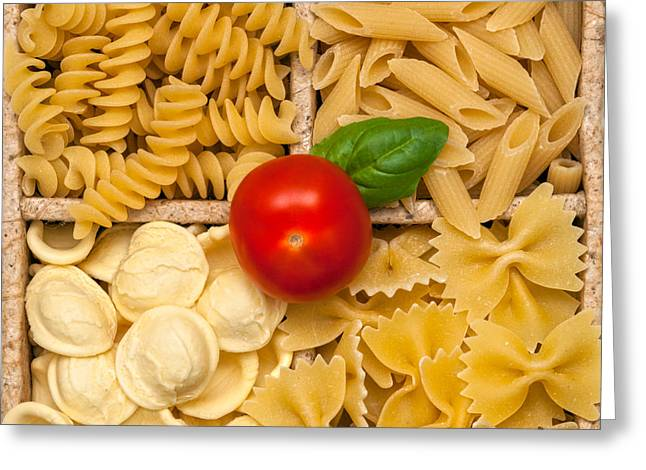 Spaghetti Noodles Greeting Cards - Collection of Italian Pasta  Greeting Card by Luciano Mortula