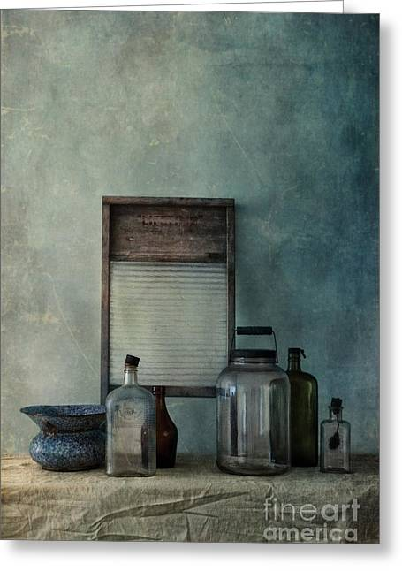 Old Washboards Photographs Greeting Cards - Collection Greeting Card by Priska Wettstein