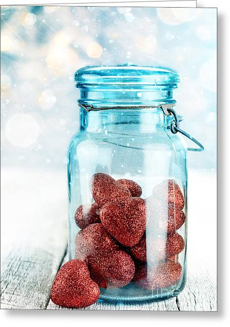 Blue Jar Greeting Cards - Collection Greeting Card by Stephanie Frey