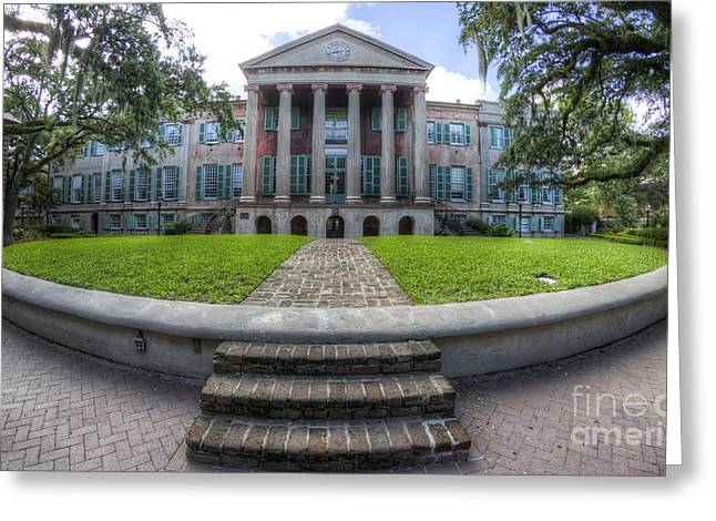 College Greeting Cards - College of Charleston Randolph Hall Cistern Greeting Card by Dustin K Ryan