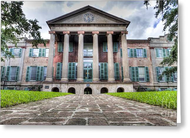 College Of Charleston Randolph Hall Greeting Card by Dustin K Ryan