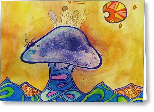 Fungi Mixed Media Greeting Cards - Friends Greeting Card by Shelby Robbins