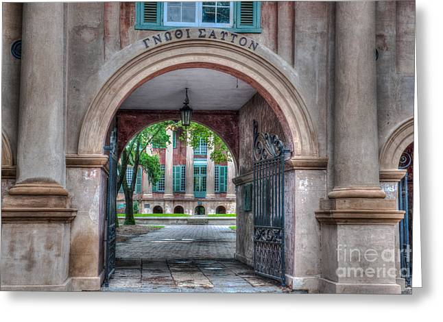 Charleston Pathway Greeting Cards - College Time Greeting Card by Dale Powell