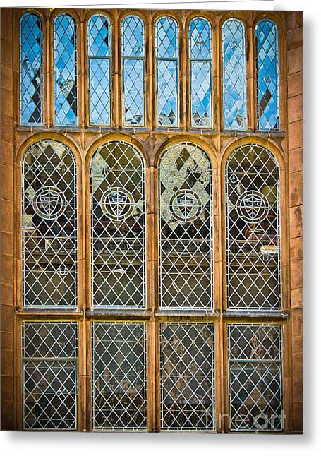 Collegiate Window - Princeton Greeting Card by Colleen Kammerer