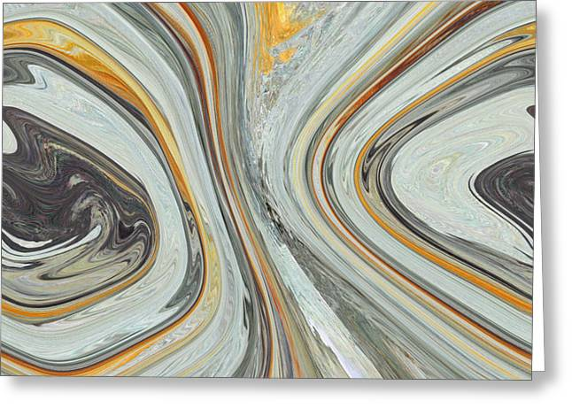 Colliding Circles Greeting Card by Christine  Dekkers