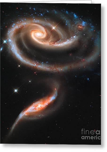 Colliding Greeting Cards - Colliding Galaxies Greeting Card by Nicholas Burningham