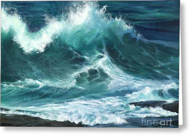 Pacific Ocean Prints Greeting Cards - Colliding Tides Greeting Card by Jeanette French