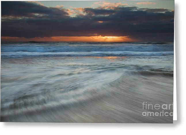 Colliding Tides Greeting Card by Mike  Dawson