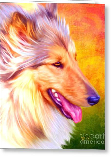 Collie Pics Greeting Cards - Collie Art Greeting Card by Iain McDonald