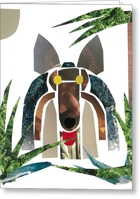 Collie Mixed Media Greeting Cards - Collie Greeting Card by Earl ContehMorgan