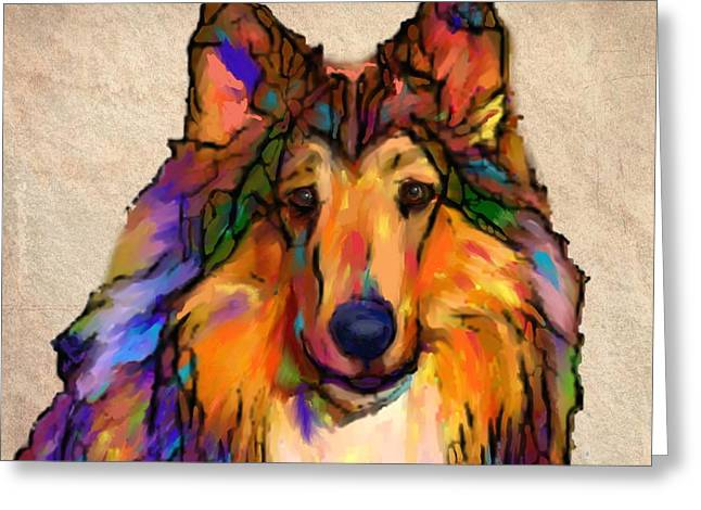 Collie Greeting Card by Marlene Watson