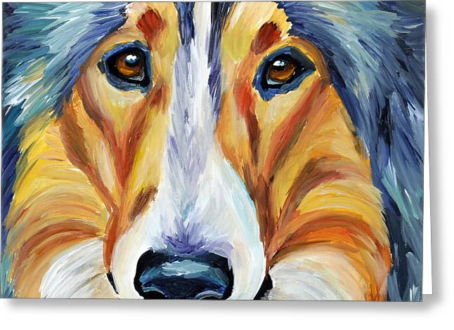 Collie Greeting Cards - Collie Greeting Card by Melissa Smith