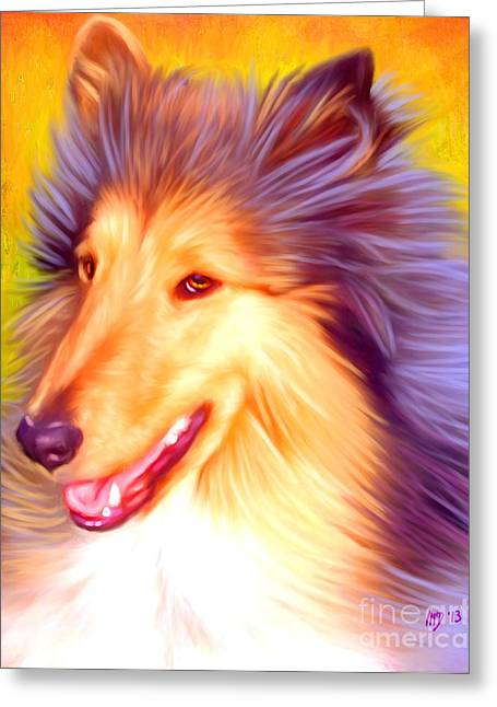 Collie Pics Greeting Cards - Collie Pet Art Greeting Card by Iain McDonald