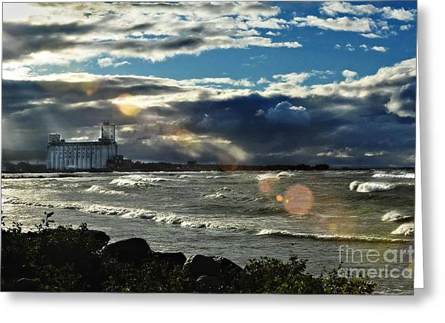 Collingwood Greeting Cards - Collingwood Terminal Building Greeting Card by Andrea Kollo