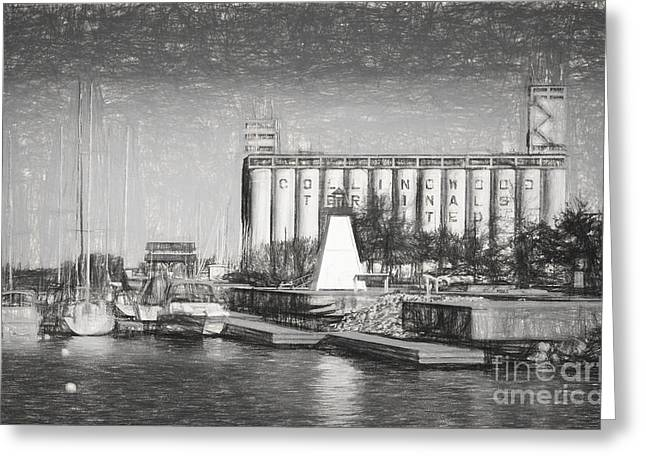 Collingwood Greeting Cards - Collingwood Terminals in old days Greeting Card by Les Palenik