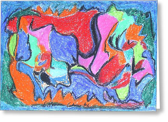Fauvist Style Greeting Cards - Collision Course Greeting Card by Esther Newman-Cohen