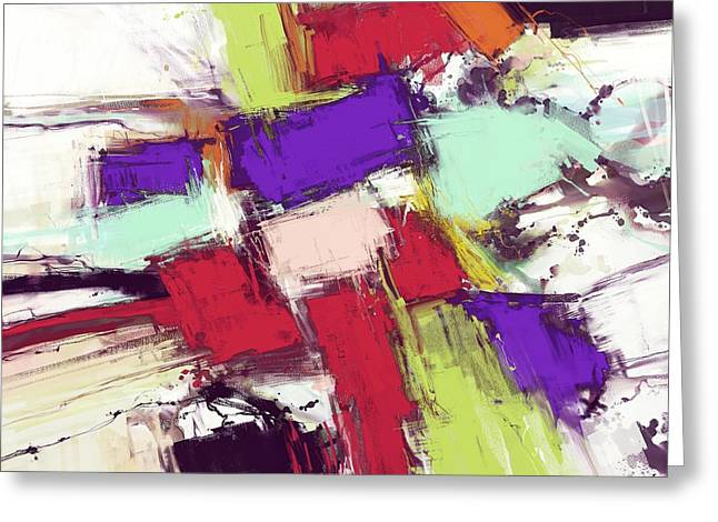 Loose Style Digital Greeting Cards - Collision Greeting Card by Keith Mills