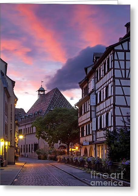 Haut Greeting Cards - Colmar Twilight Greeting Card by Brian Jannsen