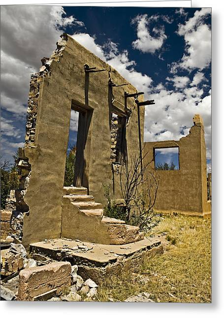 Abandoned School House. Greeting Cards - Colmor School house Greeting Card by Steve Bingham