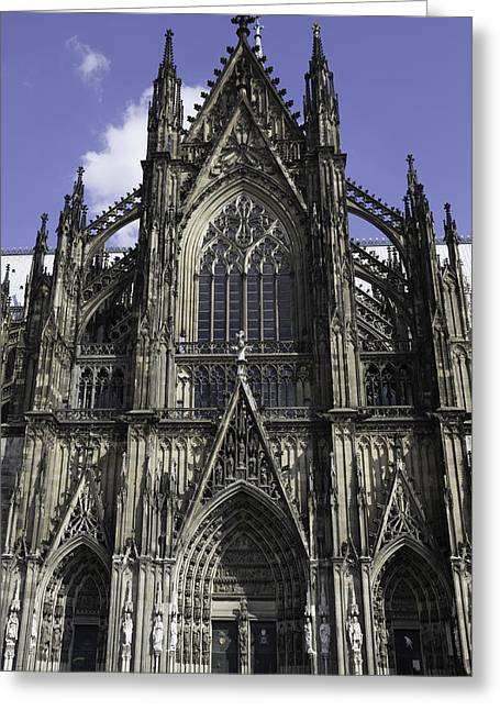 Glass Doors Greeting Cards - Cologne Cathedral 01 Greeting Card by Teresa Mucha